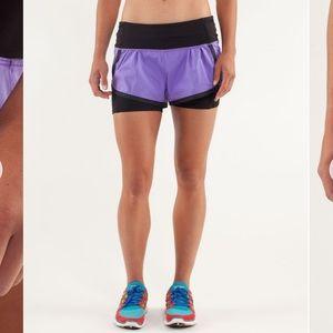 Lululemon run speed squat shorts size 4